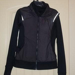 Lululemon Running Jacket with zip away hood
